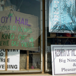 'Hail King of Krewe de Vieux' sign